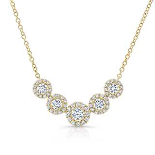 Five Stone Diamond Necklace