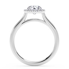 Center of My Universe® Round Halo Engagement Ring