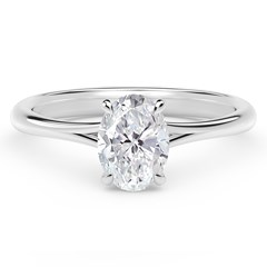 Forevermark Icon™ Setting Oval Engagement Ring with Diamond Basket