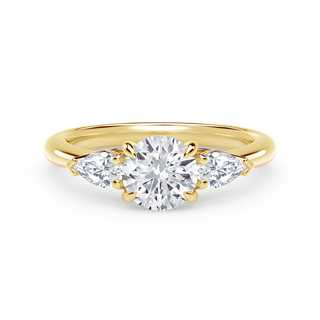 Forevermark Accents™ Engagement Ring with Pear Sides