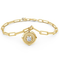 The Forevermark Alchemy™ Collection by Jade Trau Charm Bracelet (Available in four shapes)