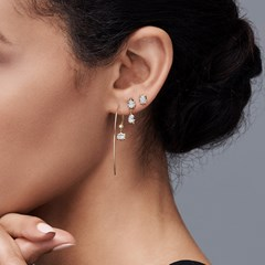 The Forevermark Alchemy™ Collection by Jade Trau Stud with Single Drop (Available in four shapes)