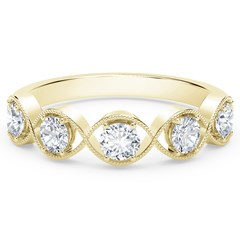 The Forevermark Tribute™ Collection Braided Five Stone Ring