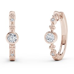The Forevermark Tribute™ Collection Diamond Bezel Huggies